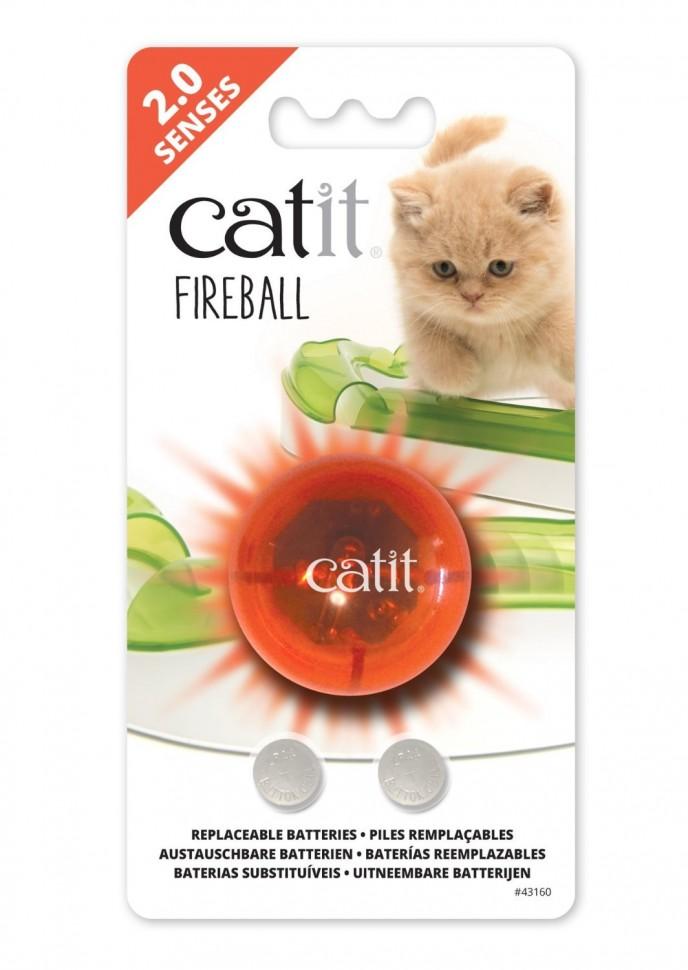 Хаген Светящийся огненно-красный шарик к игровым дорожкам Catit Design Senses и Catit Senses 2.0, диаметр 3 см, Hagen