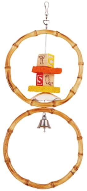 Фауна Интернешнл Игрушка для птиц Бамбуковые Кольца-качели, в ассортименте, бамбук, Fauna International