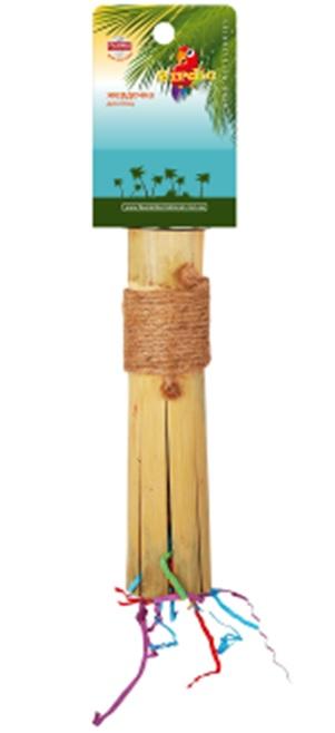Фауна Интернешнл Жердочка с винтовым металлическим креплением к клетке, в ассортименте, бамбук, Fauna International