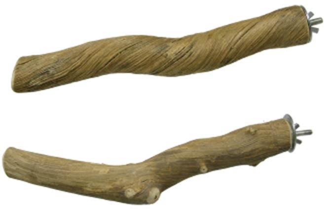 Фауна Интернешнл Жердочка с винтовым металлическим креплением к клетке, 25 см, ротанг, Fauna International