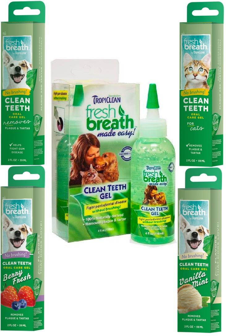 Тропиклин Гель для чистки зубов для кошек и собак, в ассортименте, Tropiclean