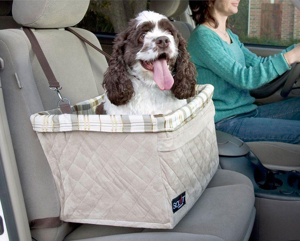 Солвит Авто кресло Deluxe для собак, в ассортименте, полиэстер, Solvit Products