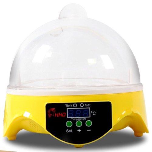 Сититек Мини-инкубатор HHD-7 на 7 яиц с терморегулятором для инкубации яиц перепелов, домашних кур, экзотических птиц декоративных пород (попугаи, канарейки), змей и рептилий, 17,5*17,5*16 см, вес 550 г, Sititec