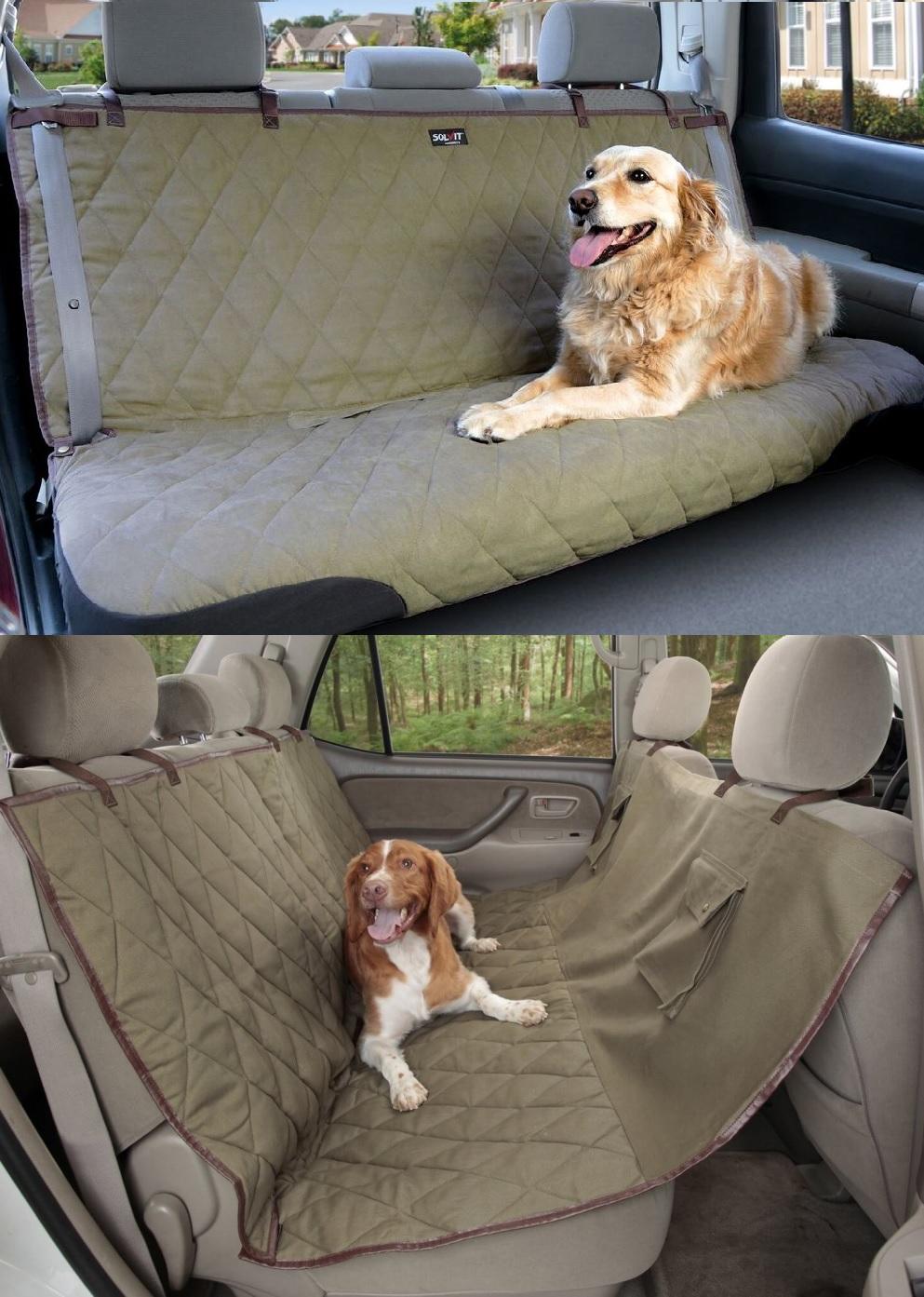 Солвит Подстилка для собаки в автомобиль Deluxe Bench Seat Cover, в ассортименте, хаки, Solvit Products