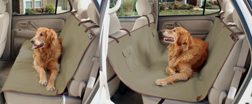 Солвит Подстилка для собаки в автомобиль Sta-Put, в ассортименте, хаки, водонепроницаемая, Solvit Products