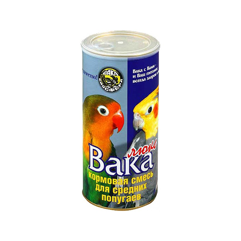 Вака Люкс Корм для попугаев, в ассортименте, Вака Биосфера