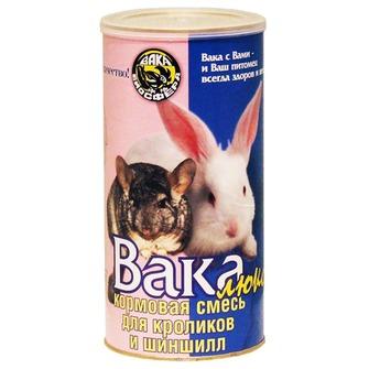 Вака Люкс Корм для шиншил и кроликов, 800 г