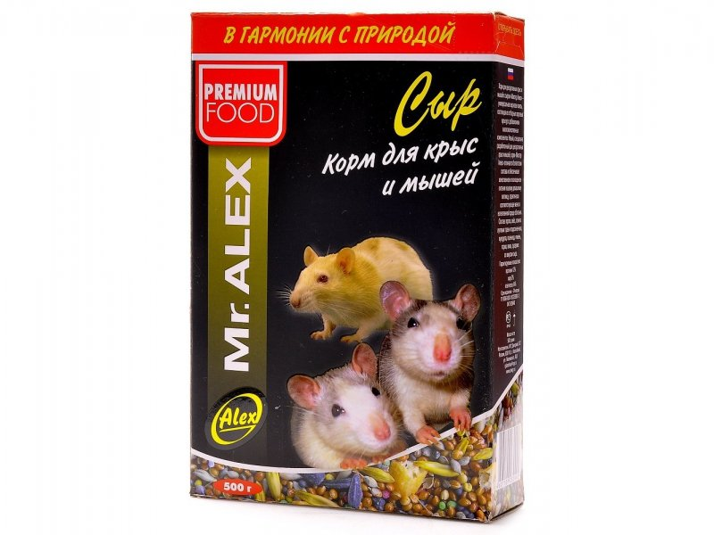 Мистер Алекс Корм Сыр для крыс и мышей, 500 г, Mr. ALEX