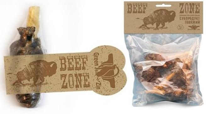 Грин Кьюзин Сушеная мясная граната для собак, 6 дюймов, в ассортименте, Green Qzin