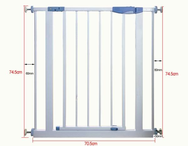 Доглэнд Перегородка с захлопывающейся дверкой, высота 75 см, ширина 75-86 см, в ассортименте, цвет белый, Dog Land
