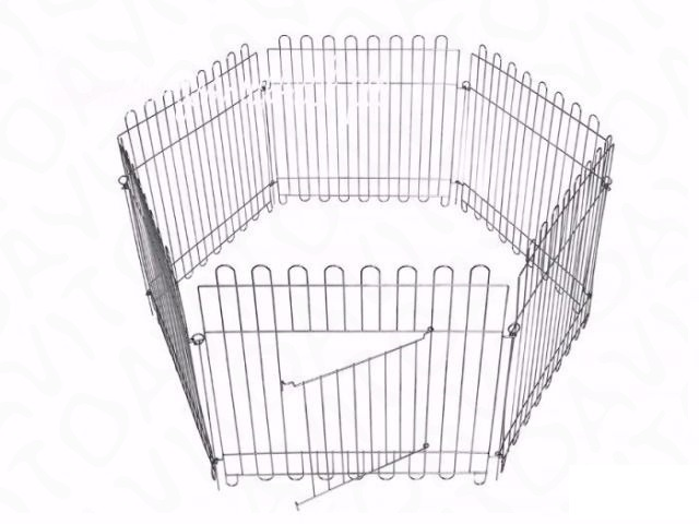 Доглэнд Вольер оцинкованный для собак и кошек, размер секции 64*63 см, в ассортименте, Dog Land