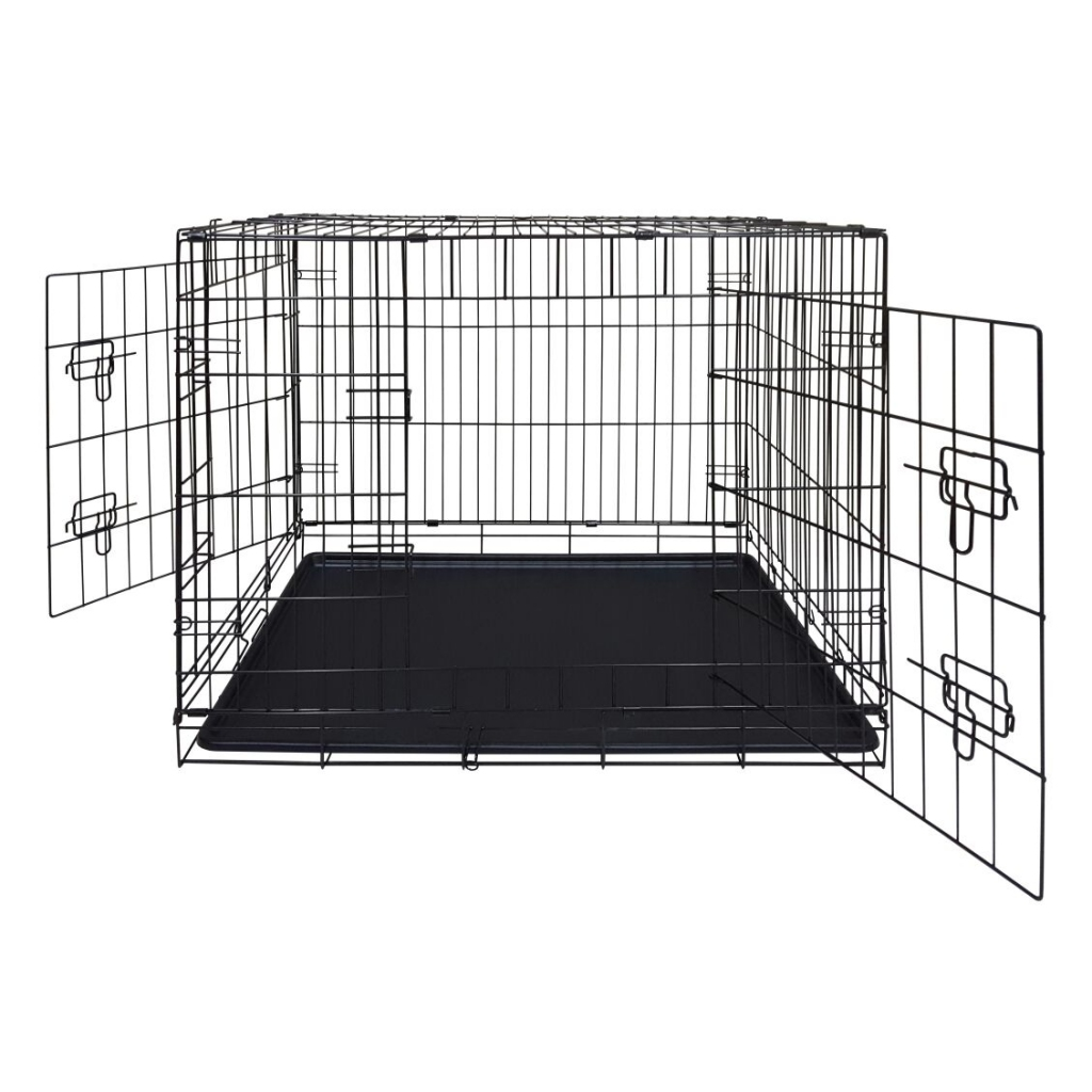 Доглэнд Клетка двухдверная с пластиковым поддоном, для собак и кошек, в ассортименте, эмаль, Dog Land