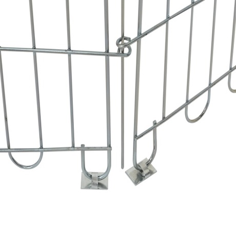 Доглэнд Крепеж вольера к полу, 6 шт, металл, Dog Land