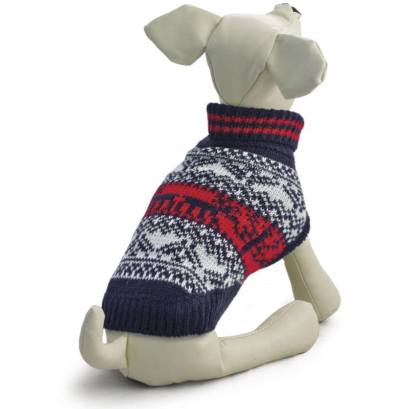 Триол Свитер с высоким воротником для собак, в ассортименте, черно-бело-красный, акрил, Triol