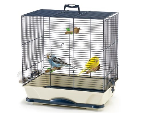 Савик Клетка Primo 40 для птиц 46*32*48 см, синяя/бежевая, Savic