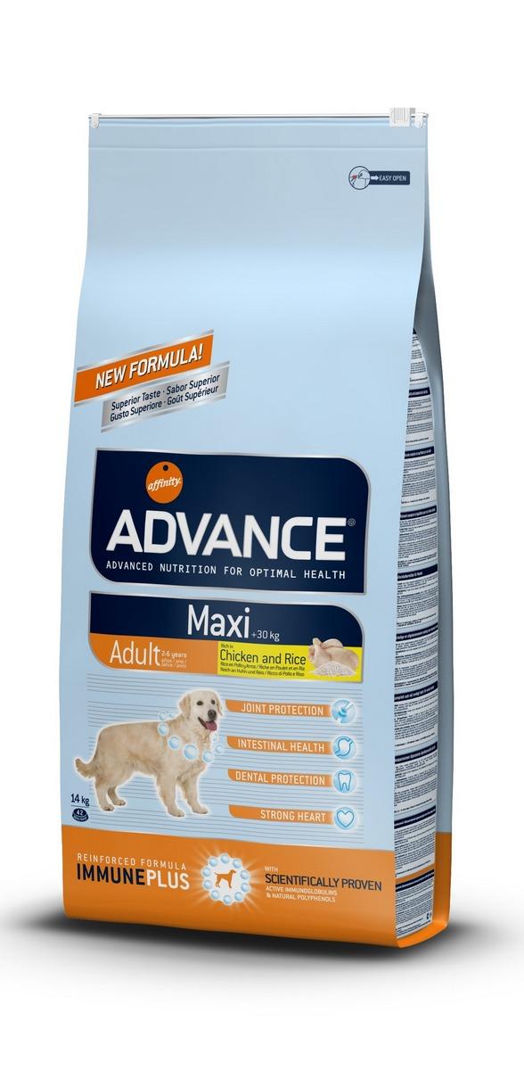 Эдванс Корм сухой Maxi Adult для взрослых собак крупных пород, Курица/Рис, в ассортименте, Advance