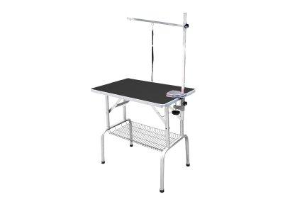 Грумерский стол складной серии SS, 95*55*78 см, черный, Transgroom