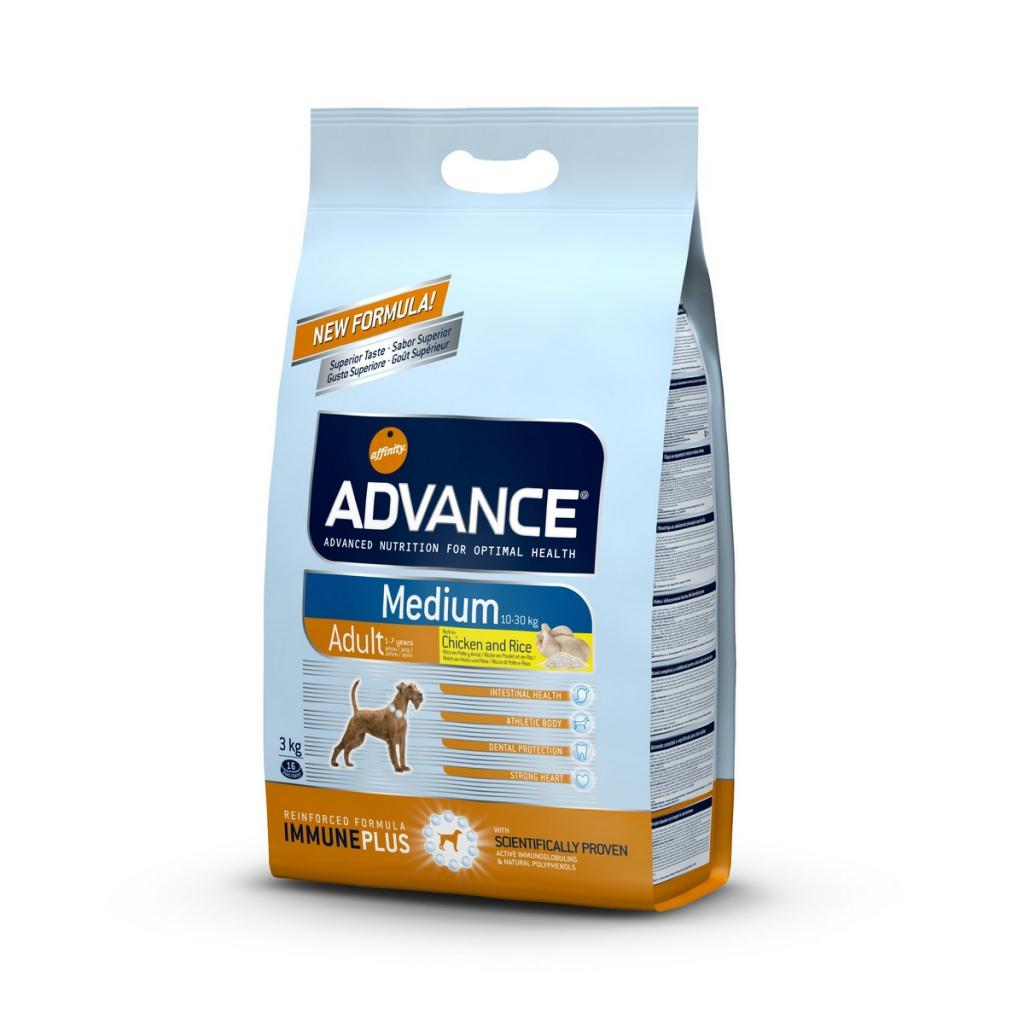 Эдванс Корм сухой Medium Adult для взрослых собак средних пород, Курица/Рис, в ассортименте, Advance