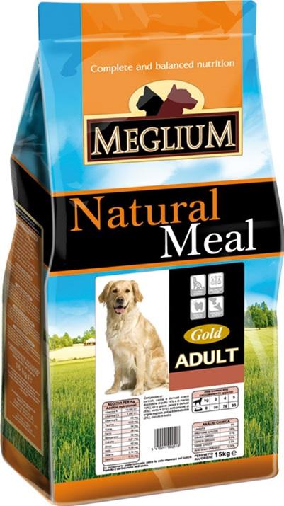 Меглиум Сухой корм Adult Gold для взрослых собак, в ассортименте, Meglium