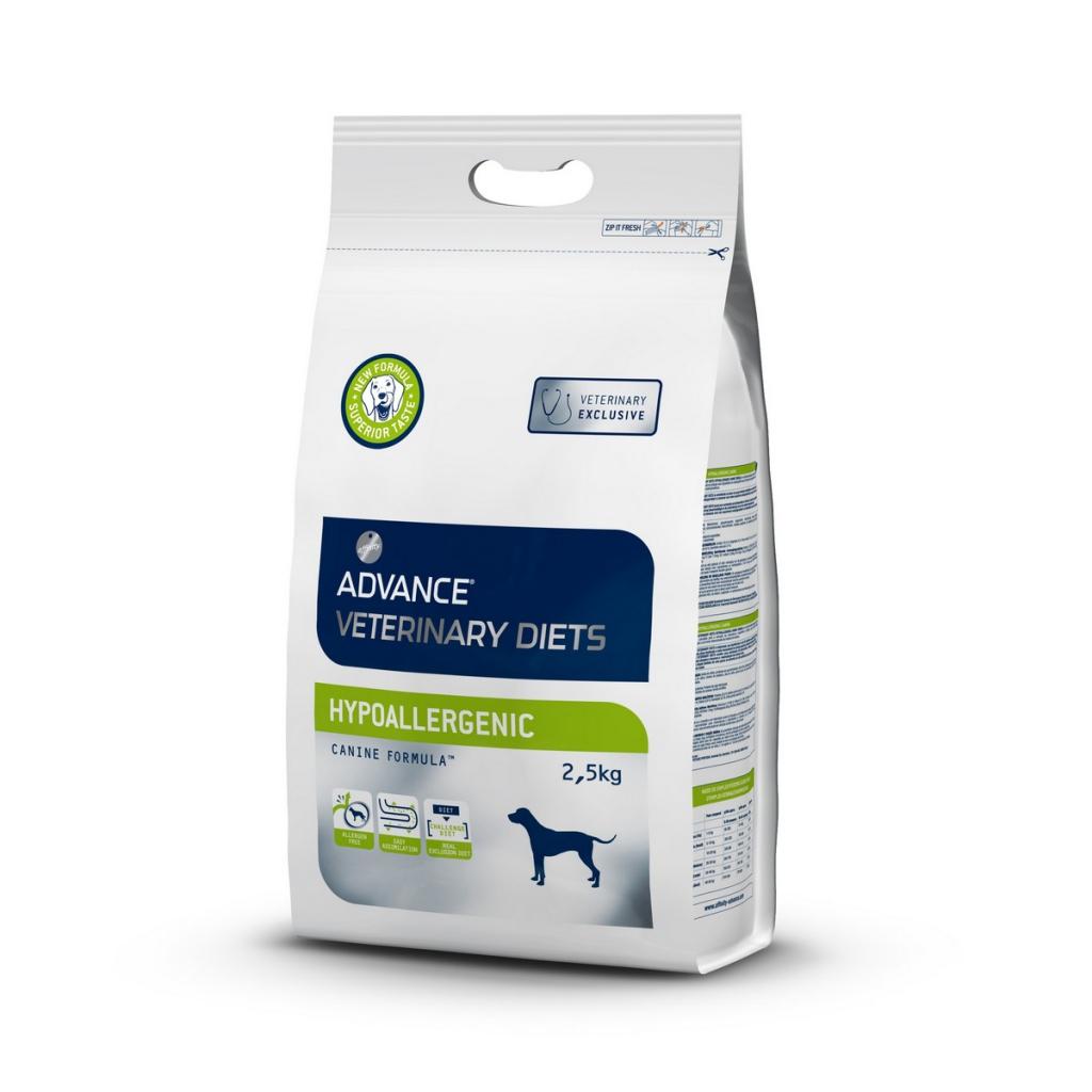 Эдванс Корм сухой Hypo Allergenic для собак с проблемами ЖКТ и пищевыми аллергиями, 2,5 кг, Advance