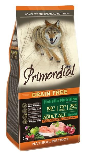 Примордиал Сухой корм беззерновой Adult для взрослых собак, Курица/Лосось, в ассортименте, Primordial