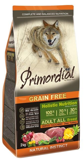 Примордиал Сухой корм беззерновой Adult для взрослых собак, Оленина/Индейка, в ассортименте, Primordial