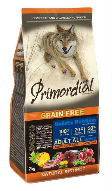 Примордиал Сухой корм беззерновой Adult для взрослых собак, Тунец/Ягненок, в ассортименте, Primordial