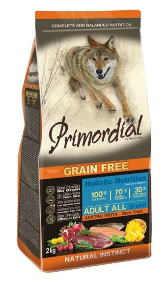 Примордиал Сухой корм беззерновой Adult для взрослых собак, Форель/Утка, в ассортименте, Primordial