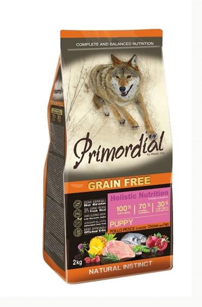 Примордиал Сухой корм беззерновой Puppy для щенков, Курица/Рыба, в ассортименте, Primordial