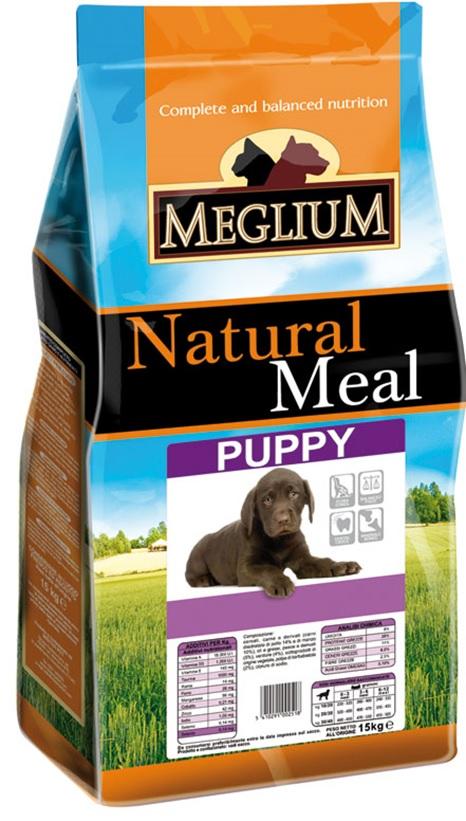 Меглиум Сухой корм Puppy для щенков, Курица/Говядина, в ассортименте, Meglium