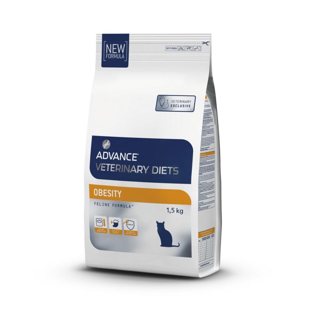 Эдванс Корм сухой Obesity Management для кошек при ожирении, 1,5 кг, Advance