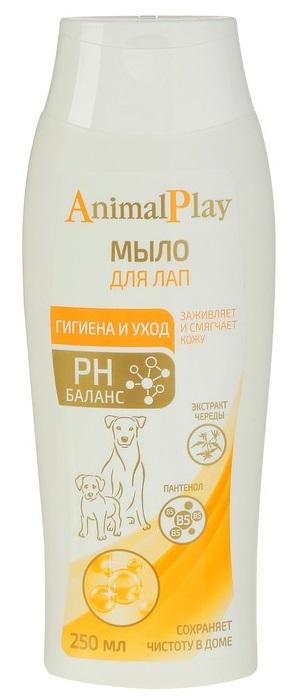Энимал Плей Жидкое мыло Гигиена и Уход с D-пантенолом и экстрактом череды, для лап собак и кошек, 250 мл, Animal Play