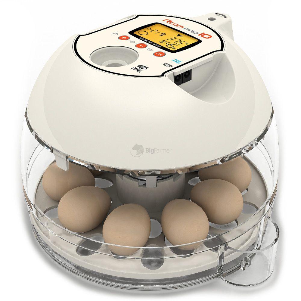 Инкубатор Rcom 10 Pro PX-10, вместимость 10-30 яиц согласно виду птицы, 26*23*17 см, Autoelex