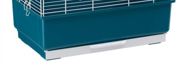 Поддон с выдвижным лотком M24 для клеток для птиц Piano 3, Palladio 3, Rekord 3, Eva, Gala, Ibiza Open, Villa, 49,5*30*16,3 см, сине-зеленый, Ferplast
