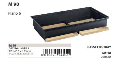 Поддон с выдвижными лотками M90 для клетки для птиц Piano 6, 87*46,5*15 см, Ferplast