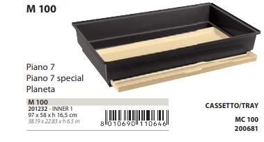 Поддон с выдвижным лотком M100 для клетки для птиц Piano 7, Piano 7 special, Planeta, 97*58*16,5 см, Ferplast