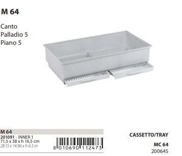 Поддон с выдвижным лотком M64 для клетки для птиц Canto, Piano 5, Palladio 5, 71,5*38*16,5 см, в ассортименте, Ferplast