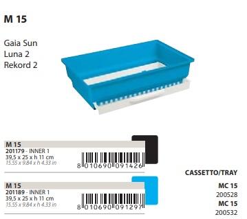 Поддон с выдвижным лотком M15 для клеток Gaia Sun, Luna 2, Rekord 2, 39,5*25*11 см, в ассортименте, Ferplast