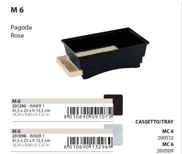 Поддон с выдвижным лотком M6 для клеток Pagoda, Rosa, 41,5*25*13,5 см, черно-коричневый, Ferplast