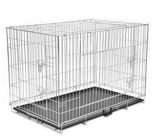 Доглэнд Клетка двудверная оцинкованная с пластиковым поддоном, для собак и кошек, в ассортименте, Dog Land