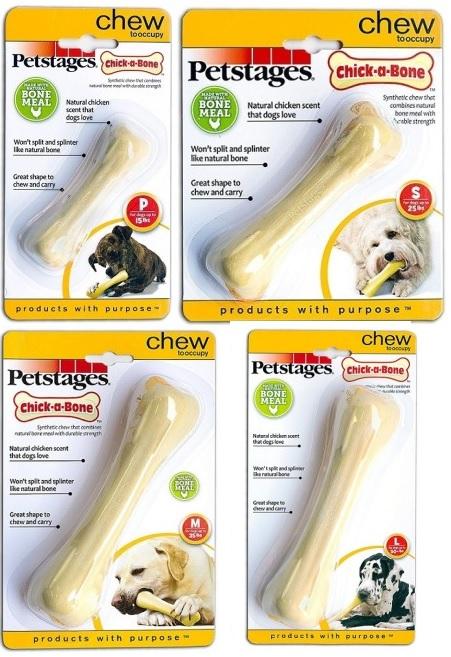 Петстейджес Игрушка для собак Chick-A-Bone Косточка с ароматом курицы, в ассортименте, Petstages