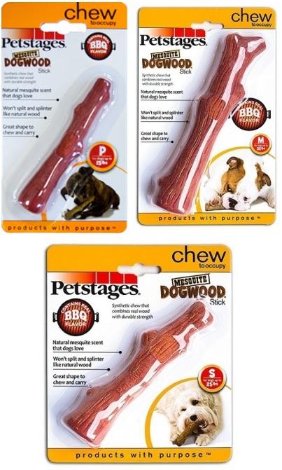 Петстейджес Игрушка для собак Mesquite Dogwood Палочка с ароматом барбекю, в ассортименте, Petstages