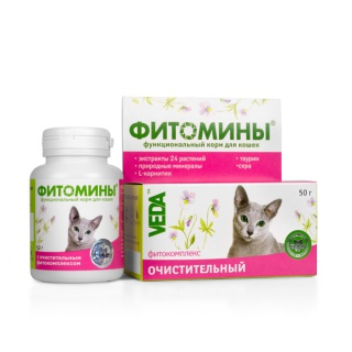 Веда Фитоэлита Чай Очистительный для кошек, 50 г