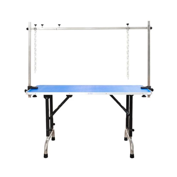 Доглэнд Грумерский стол складной 08LH с П-образным держателем, 120*60 см, высота от 64 до 91 см, Dog Land