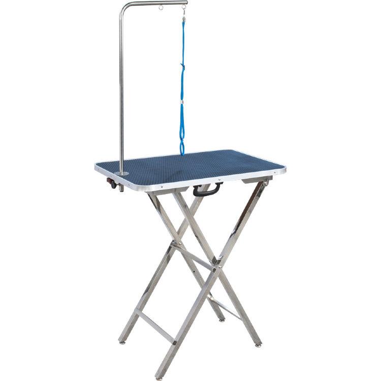 Доглэнд Грумерский стол складной 06 с Г-образным держателем и ручкой, 73*46 см, высота от 78 до 84 см, вес 9 кг, Dog Land