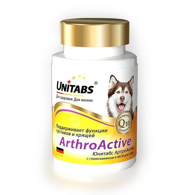 Unitabs Витаминно-минеральная добавка Arthro Аctive с Q10 для собак при болезнях суставов, 100 таблеток, Экопром