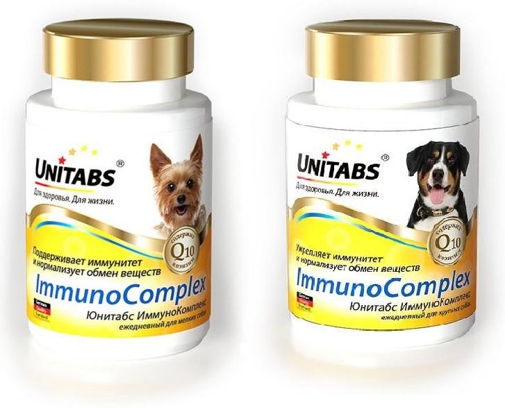 Unitabs Витаминно-минеральная добавка Immuno Complex с Q10 для собак, в ассортименте, 100 таблеток, Экопром