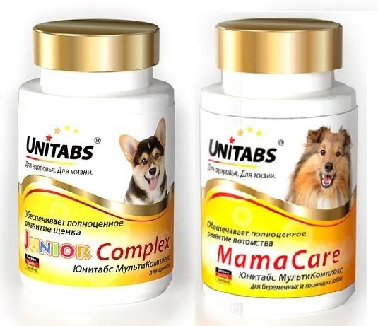 Unitabs Витаминно-минеральная добавка Complex Care для щенков и беременных собак, в ассортименте, 100 таблеток, Экопром