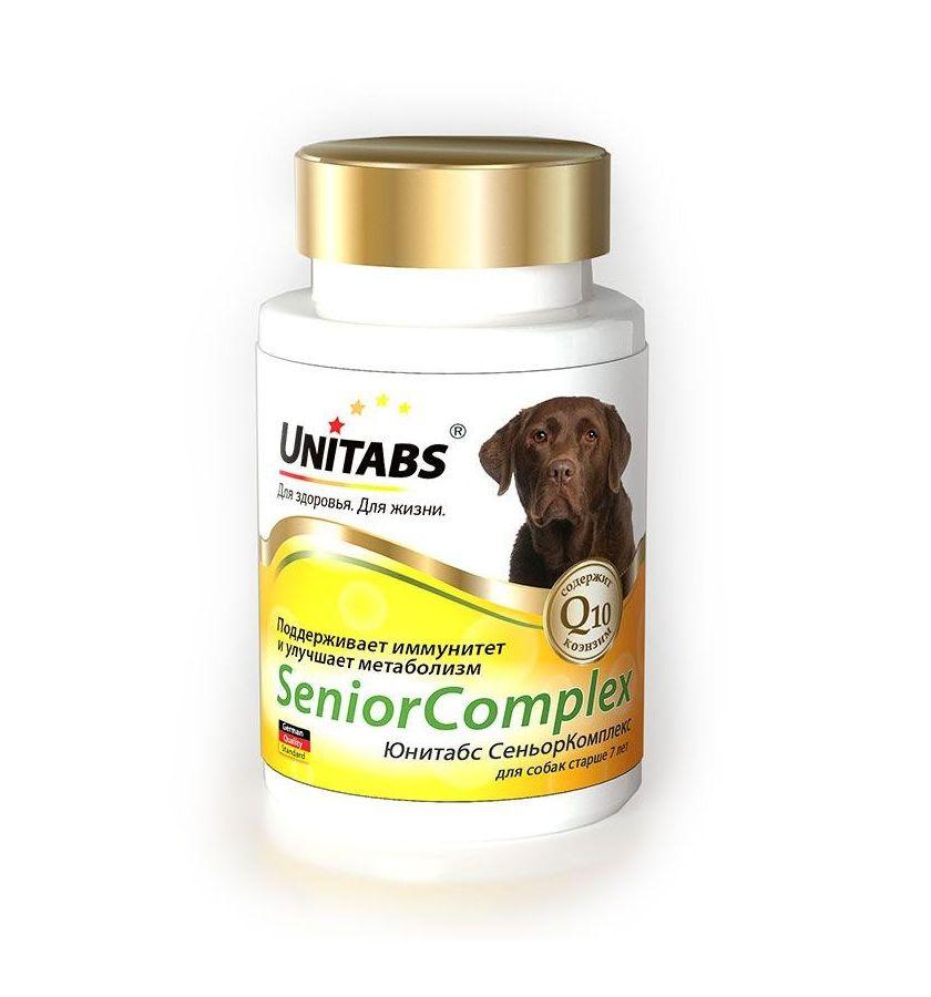 Unitabs Витаминно-минеральная добавка Senior Complex с Q10 для собак старше 7 лет, 100 таблеток, Экопром