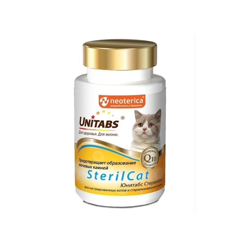 Unitabs Витаминно-минеральная добавка Steril Cat с Q10 для кастрированных/стерилизованных кошек и котов, 120 таблеток, Экопром